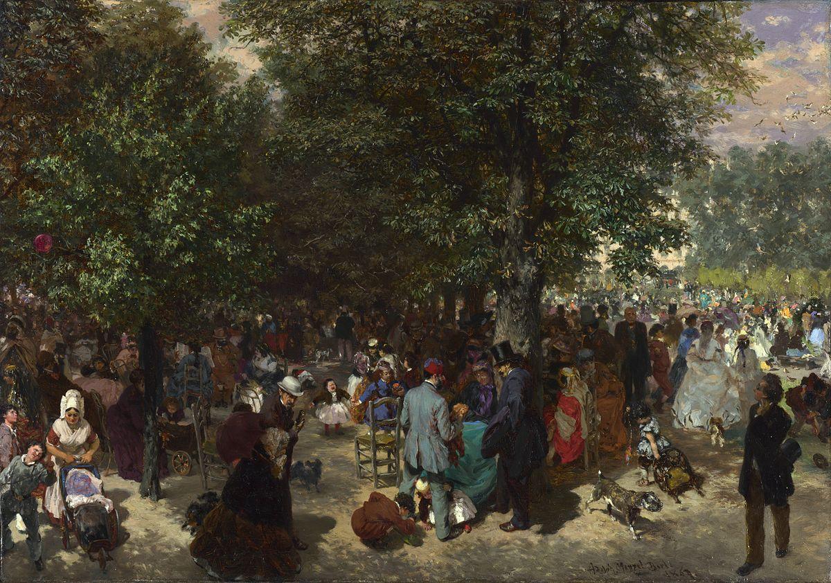 Полдень в саду Тюильри
