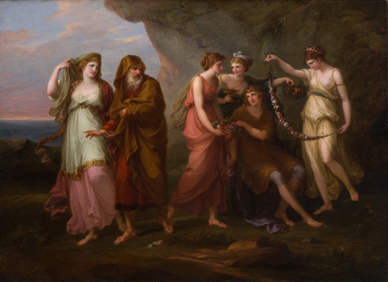 Телемах и нимфы Калипсо