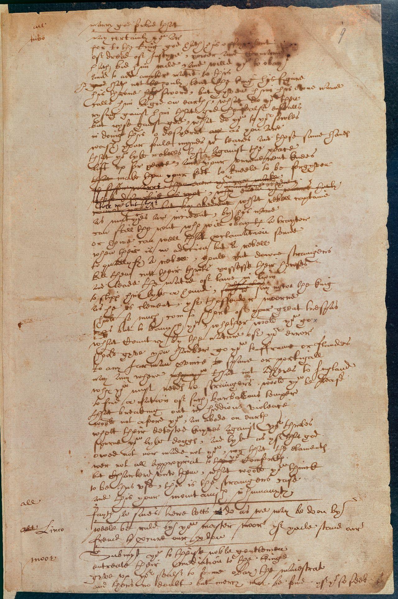 рукопись Шекспира