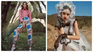 Цветы, шёлковые пижамы и дух 30-х в лукбуке Rodarte SS 2021