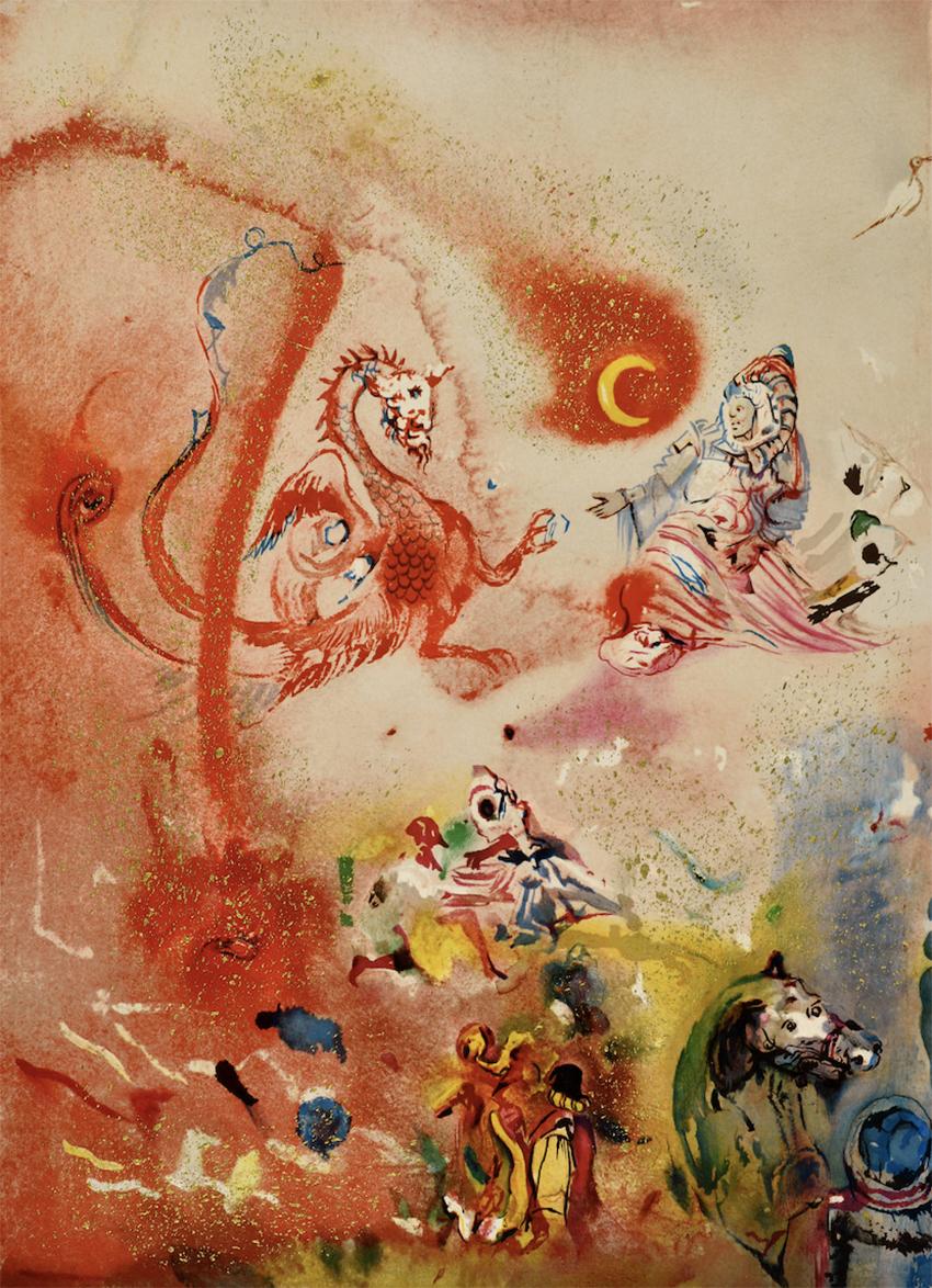 Сальвадор Дали, _Восточная фантазия_, 1974 Из колекции Вадима Мороховского