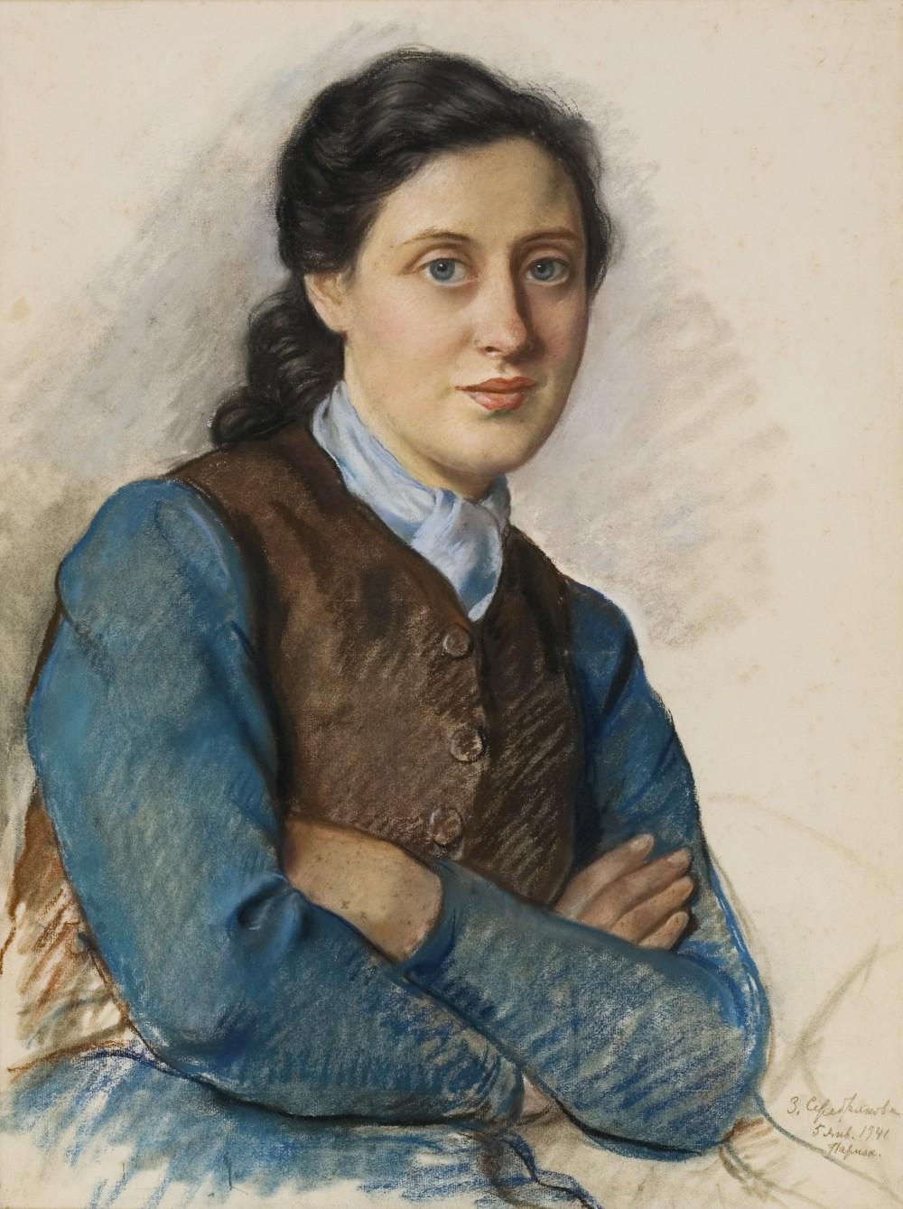 Зинаида Серебрякова _ Портрет мисис Бейлиц_, 1941 Из колекции Андрея Адамовского