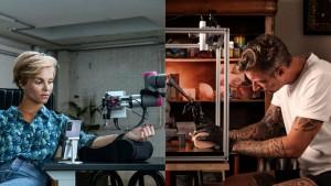 Впервые в мире татуировку сделали удаленно при помощи робота, подключенного к 5G